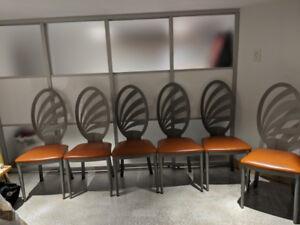 Lot de 6 chaises de cuisine