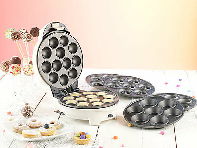 MACCHINA PER CAKE POP DOLCI TORTE CAKEPOP MAKER TORTINI DONUT CON 3 STAMPI FORME