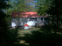 Cottage #2 in the woods on the Little Bouctouche River