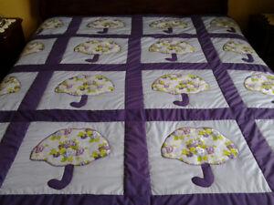 4 handmade quilts