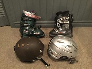 Bottes et casques de ski alpin negociable