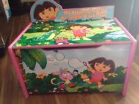 Dora Wooden Toy Box