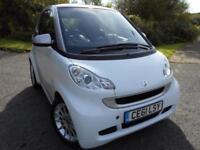 2011 61 SMART FORTWO 1.0 PASSION MHD 2D AUTO 71 BHP ** 1 OWNER , £0 ROAD TAX,