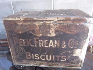 Vintage Large Peek Frean Grocery Store Counter Biscuit Tin Bin