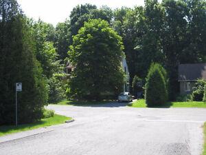 Une maison dans une banlieue champêtre