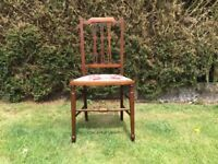 ORIGINAL ART NOUVEAU ANTIQUE CHAIR. C/ EARLY 1900's. BEAUTIFUL LOOKING AND EXTREMLY