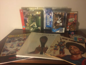 Various Sports Memorabilia - Figures, Books, VHS, Snow-globe!