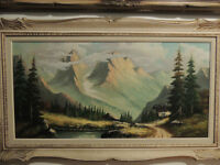 Listed Canadian artist Robert Oset oil painting