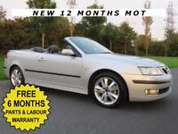 SAAB 9-3 1.8 T CONVERTIBLE** ANNIVERSARY EDITION** POWER HOOD**F.S.H**NEW M.O.T