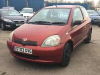 Toyota Yaris 1.0 VVTi Red 2003 Colour Collection