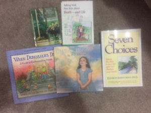 Books on death for young kids and one for adult