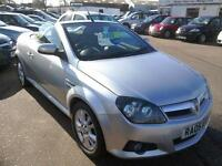 2005 Vauxhall Tigra 1.8 Sport Convertible 55K Silver Leather Excellent Condition