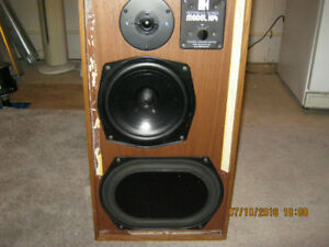 kef 104 reference speakers kenwood tuner and amp