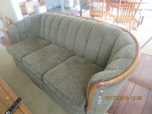 upholstered sofa with matching chair  or OBO