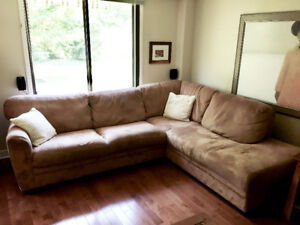 Natuzzi microfibre sectional couch -SUPER comfortable -