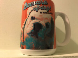 Brand New coffee Mug $5 Beware of Dog He wants cuddles adorable