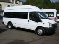 FORD TRANSIT 16 SEAT HIGH ROOF WHEELCHAIR ACCESSIBLE DISABILITY MINIBUS
