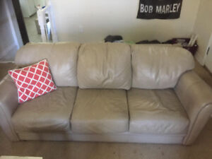 Gently Used Leather Couches For Sale $150 or Best Offer URGENT