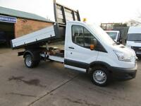 2015 Ford Transit 47k Single Cab 125bhp Tipper Alloy one stop dropside body