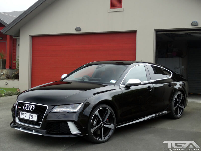 19 Inch Audi Black Edition Rs7 Style Alloy Wheels Amp Tyres