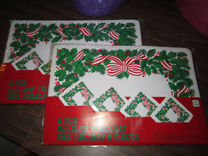 Christmas place mats with matching drink coasters