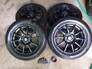 """16"""" Wheel and Tire Set.  Sparco Assetto + Contl Pure Contact"""