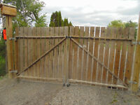 Wood gates & fence for sale