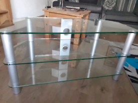 FREE - Clear Glass TV Stand