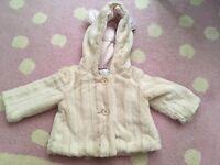 Jasper Conran faux fur girls coat