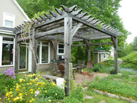 Custom timber frame pergolas and pavilions