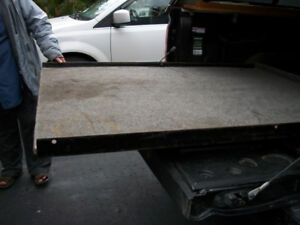 SLIDING TRUCK BED FOR UNDER CAP OR TONNEAU COVER