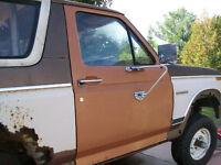 Pair of doors from 1982 or so Ford pick-up and Bronco.