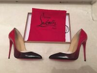 Christian Louboutin Black Red Pigalle Follie 120 RARE ladies shoes size 42/8.5