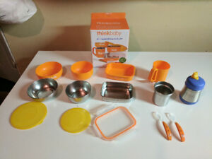 """Think Baby"" Feeding Set, Thermos Sippy Cup, Baby Bullet Storage"
