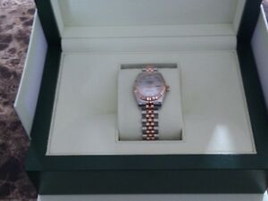 Ladies 18 Kt 2-tone Rolex jubilee with MOP face