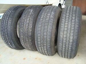 Set of 4 Continental Contitrac P235/70R16 tires for sale