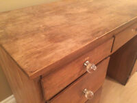 Solid wood, antique, shabby chic desk