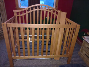 Crib that converts to double bed $100