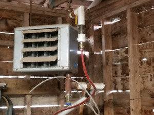 Hot water forced air rads