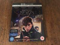Fantastic Beasts on 4k ultra HD & blu ray