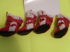 Bottes rouges neuves pour chiens PETIT SMALL new red doggy boots