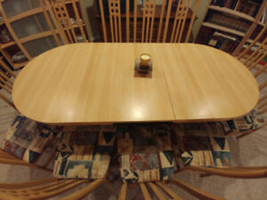 Dining table (folding) and 12 chairs