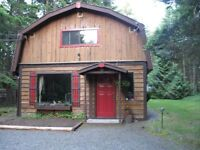 2 BR Cottage, wood stove on acreage 13 min to Parksville