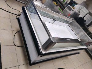 2 Hussmann open top island merchandiser freezers 5 foot