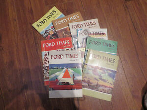 Lot of 8 Vintage Ford Times Magazines--Aug.51-Feb.58