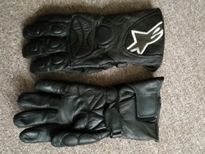 Alpinestars SP-W leather gloves with rain covers, mens XL