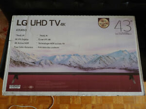 LG 43inch UHD 4K Smart TV brand new. 2018 Model.