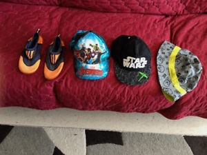 Boys summer hats & water shoes