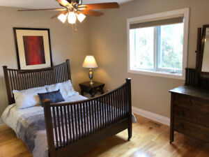 Double bed & Dresser set - 100% Canadian made solid wood