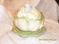 bol en choux et lapin vintage rabbit cabbage bowl Holland #3142